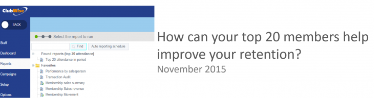 How can your top 20 members help improve your retention?